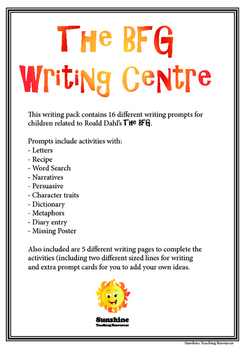 The BFG - Writing Centre