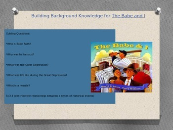 The Babe and I Book Introduction-Building Background Knowledge