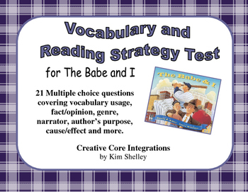 The Babe and I - Reading Strategy and Vocabulary Test