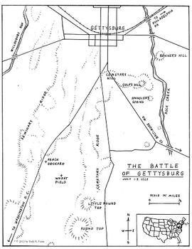 The Battle of Gettysburg Map Kit