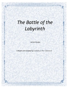 The Battle of Labyrinth Novel Unit Plus Grammar