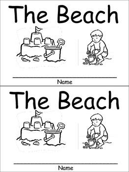The Beach Emergent Reader for Kindergarten Preschool or Ki