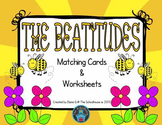 The Beatitudes Matching Cards and Worksheets - Christian
