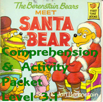 The Berenstain Bears Meet Santa Bear Comprehension Activit