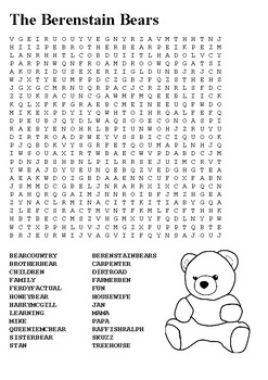 The Berenstain Bears Word Search