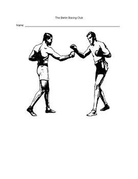 The Berlin Boxing Club Chapter Questions