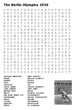 The Berlin Olympics 1936 Word Search