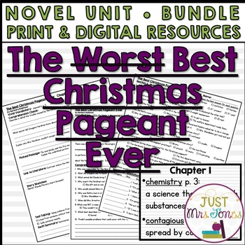 The Best Christmas Pageant Ever Novel Unit
