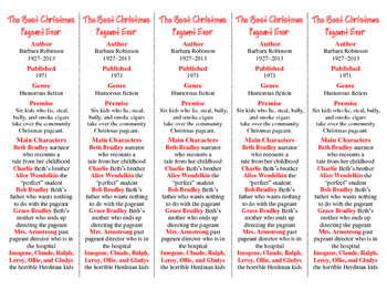 Best Christmas Pageant Ever ed. of Bookmarks Plus—Great Gi