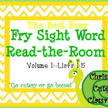 The Best Ever Fry Sight Word Read-the-Room Vol. 1 Snails