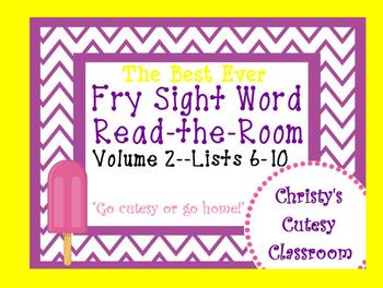 The Best Ever Fry Sight Word Read-the-Room Vol. 2 Popsicles
