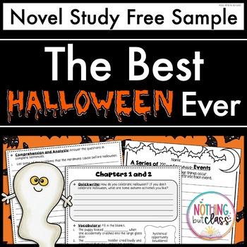 The Best Halloween Ever Novel Study Unit: FREE Sample