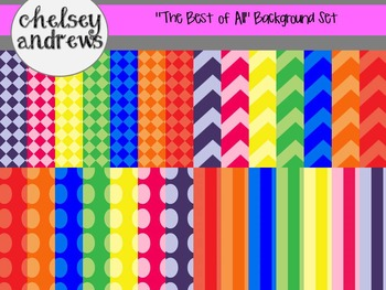 """""""The Best of All"""" Digital Background Paper Set {Personal o"""