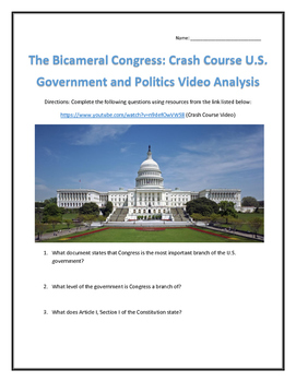 The Bicameral Congress: Crash Course U.S. Government and P