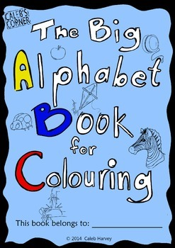 The Big Alphabet Book for Colouring - UK - Freebie