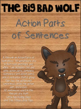 The Big Bad Wolf Action Parts of Sentences