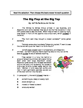 The Big Flop at the Big Top - Reading Passage/Reader's The