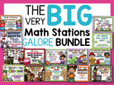 The Big Math Stations Galore Bundle-14 Differentiated/Alig