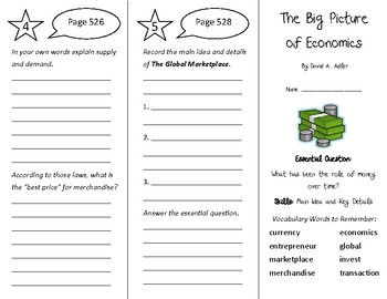 The Big Picture of Economics Trifold - Wonders 4th Grade U