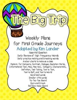 The Big Trip Journeys First Grade Supplmental Materials an