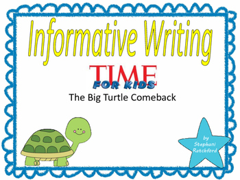 Teach Prompt Writing: Informative Essay Time for Kids Big