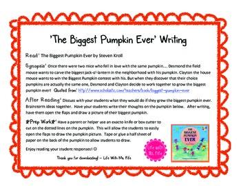 The Biggest Pumpkin Ever Writing