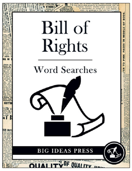The Bill of Rights Word Search Bundle Pack (Grades 3-5)
