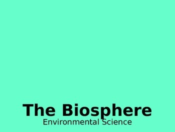 The Biosphere PPT