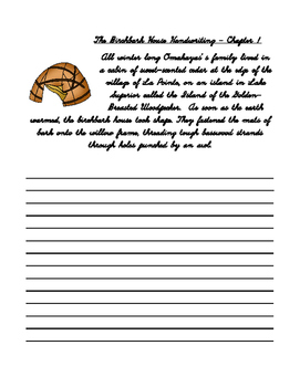 The Birchbark House Series Handwriting Preview
