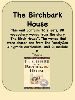ReadyGen The Birchbark House Vocabulary 4th grade Unit 2,