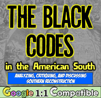 Reconstruction & the Black Codes: Analyzing Reconstruction