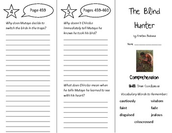 The Blind Hunter Trifold - Treasures 4th Grade Unit 4 Week 2