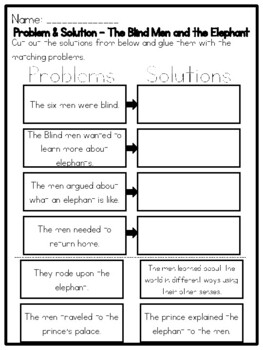 problem solutions worksheet Problem and solution students identify the problem and its solution after reading a passage or story with this graphic organizer check for student understanding by using this printable in class or as a homework assignment.