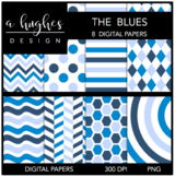 The Blues {12x12 Digital Papers for Commercial Use}