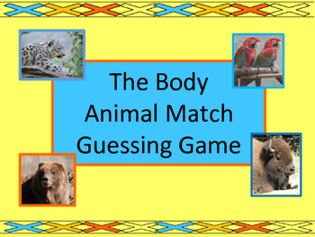 The Body Vocabulary – ESL Animal Match Guessing Game