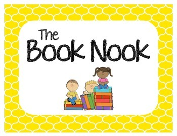 """""""The Book Nook"""" Classroom Library Sign"""
