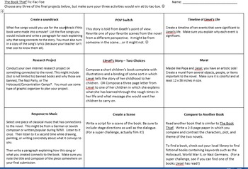 The Book Thief Final Project Options - Tic-Tac-Toe