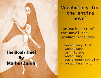 The Book Thief- Vocabulary, practice assignments and quizzes