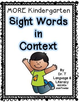 MORE Kindergarten Sight Words in Context