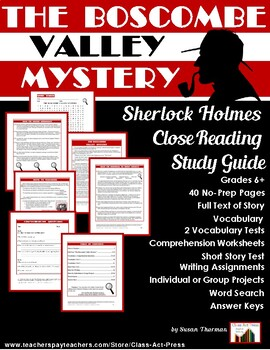 The Boscombe Valley Mystery: Study Guide for the Holmes St