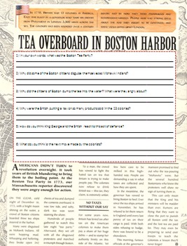 The Boston Tea Party and The Beginnings of the American Re