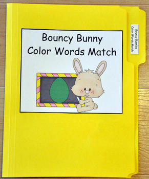 The Bouncy Bunny Color Words File Folder Game