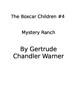 The Boxcar Children #4: Mystery Ranch book study