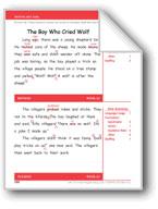 The Boy Who Cried Wolf (Gr. 3/Week 25)