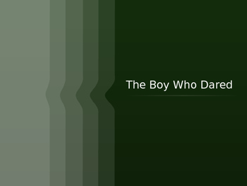 The Boy Who Dared ppt