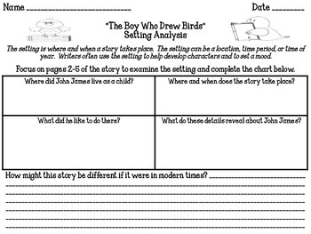 """The Boy Who Drew Birds"" Reading Analysis Lesson 11"