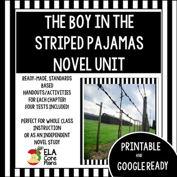 The Boy in the Striped Pajamas Novel Unit  Activities, Han