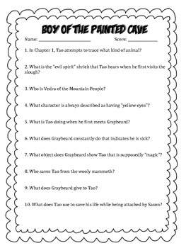 The Boy of the Painted Cave Questions