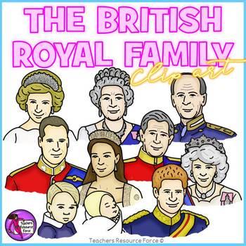 The British Royal Family clip art