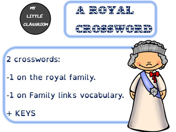 The British royal family: crossword.